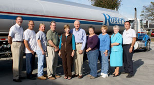 From left are Rick Denton, Ralph Laster, Scott Holbert, Brent Cooper, Penny and Don Rogers, Janet Lane, Melinda Andrews, Shirley Davidson, and Jerry Haun.