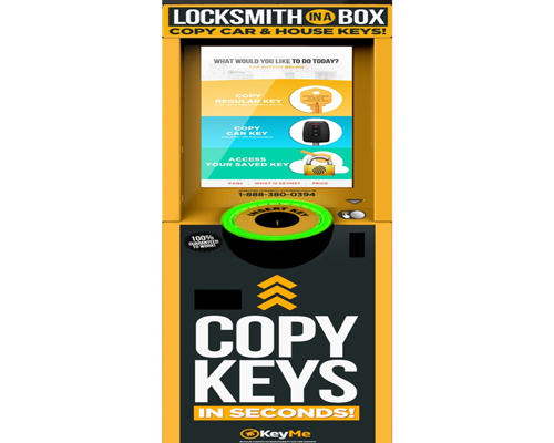 A KeyMe kiosk which makes keys