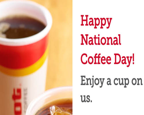 Celebrate National Coffee Day with a free drink