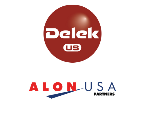 Logos for Delek US and Alon USA