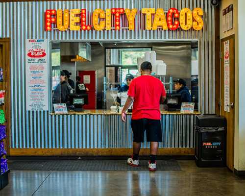 Fuel City Tacos window