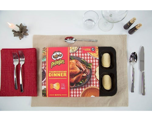 Pringles Reveals an Amazing Thanksgiving Dinner Made Entirely Out of Chips