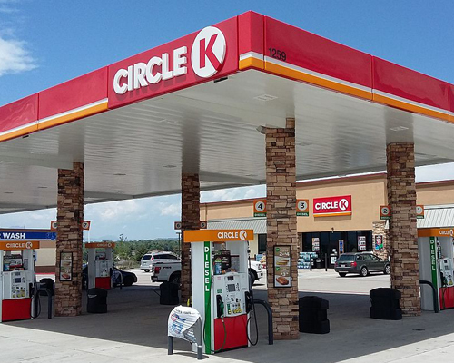 The exterior of a Circle K store