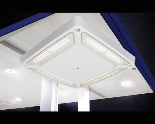 LSI Industries Scottsdale Vertex Canopy Light Fixture & Scottsdale Vertex LED Gas Station Canopy Luminaire | Convenience ...