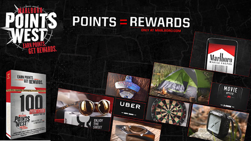 Marlboro's Points West rewards program in Texas