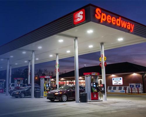 Speedway forecourt exterior