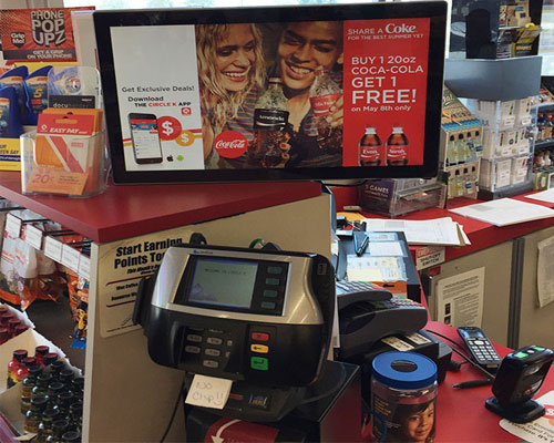 Circle K Share a Coke promo at checkout