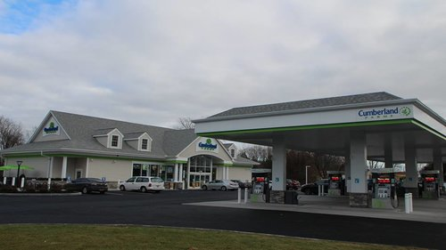 The forecourt of a Cumberland Farms convenience store