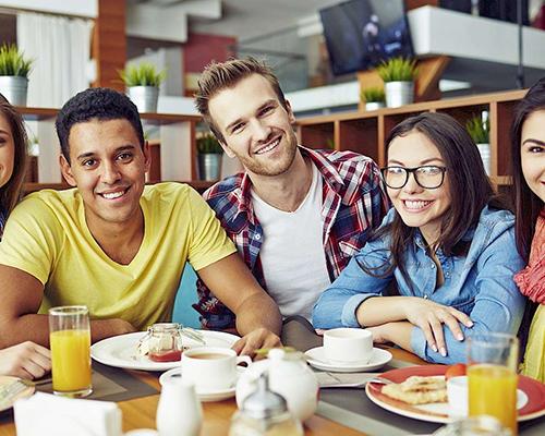 Generation Z at breakfast