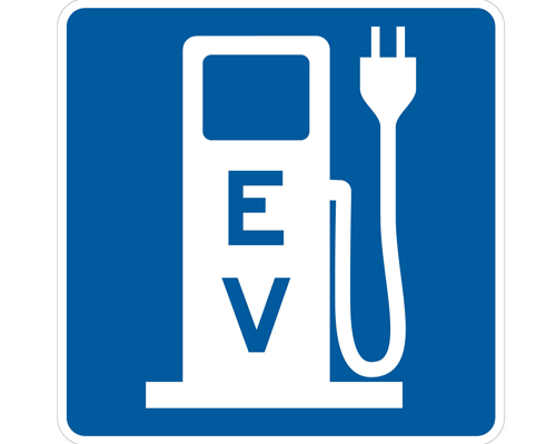 Electric vehicle charger sign