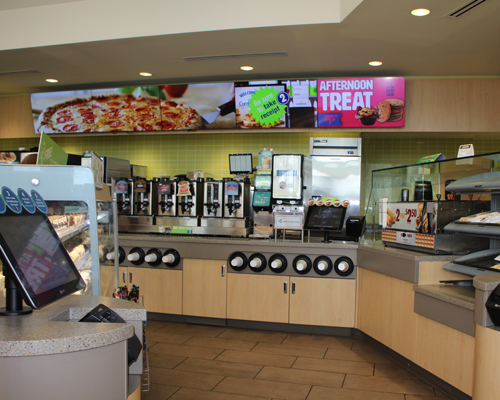 Interior of Cumberland Farms next-generation store