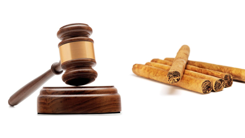 Cigars and judge's gavel