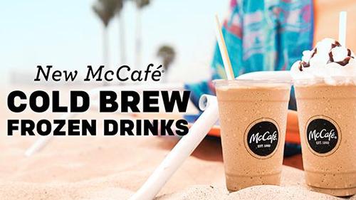 McDonald's Cold Brew frozen drinks