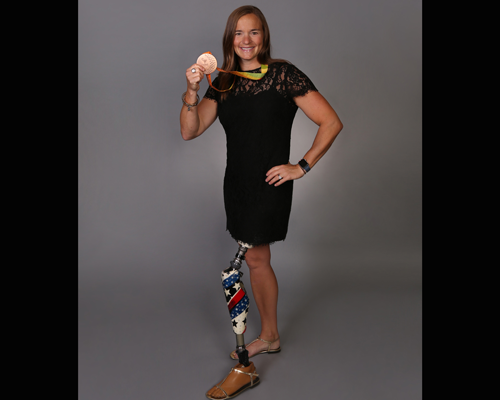 Melissa Stockwell was the first female soldier to lose a limb in the Iraq War.