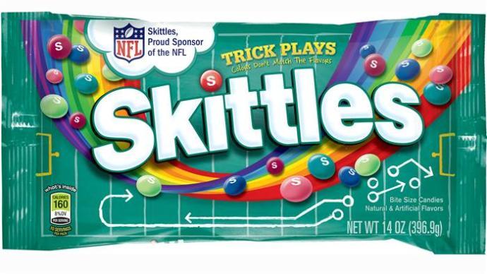 Trick Plays Skittles