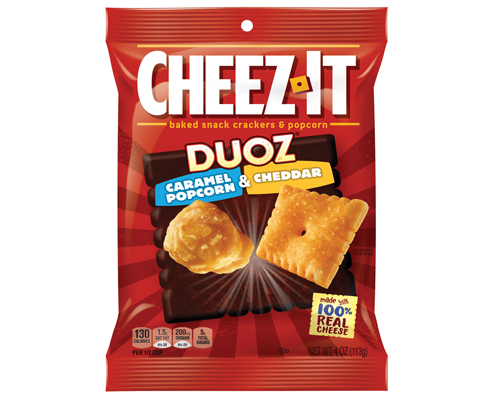 Cheez-It Duoz Caramel Popcorn and Cheddar