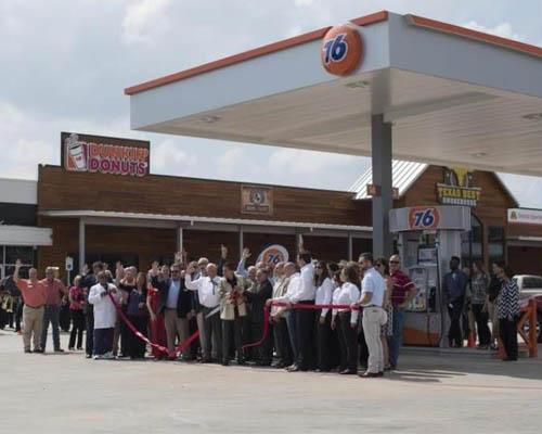 Grand opening of the The 76 Travel Center, located in Nash, Texas