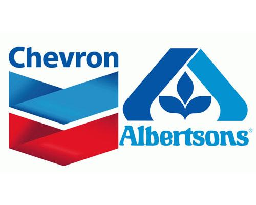 Chevron and Albertsons logos