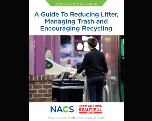 """Being a Good Neighbor: A Guide to Reducing Litter, Managing Trash and Encouraging Recycling"" front page"