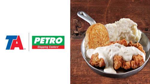 Chicken fried steak form Petro Iron Skillet Restaurants