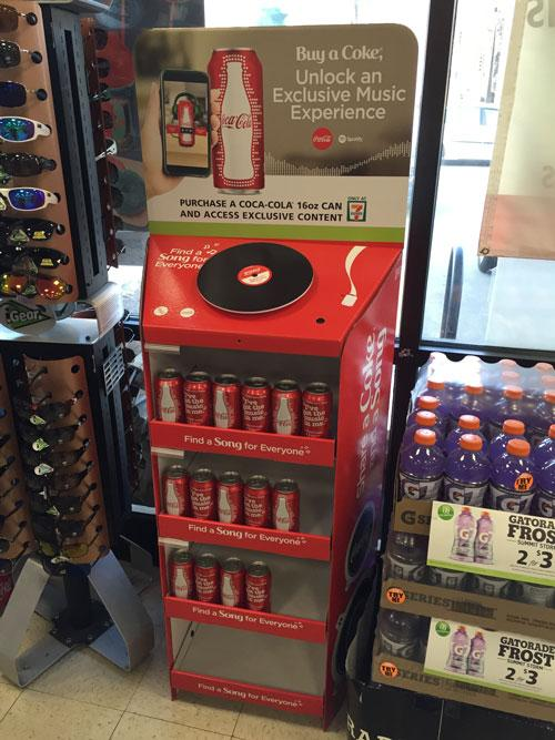 7-Eleven Coca-Cola's motion-activated floorstand