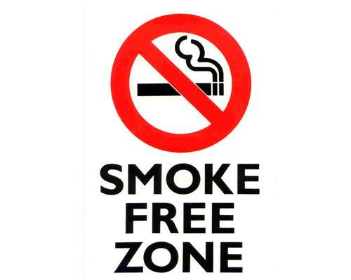 A Smoke Free Zone sign