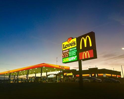 Love's Travel stop in Troy, Texas