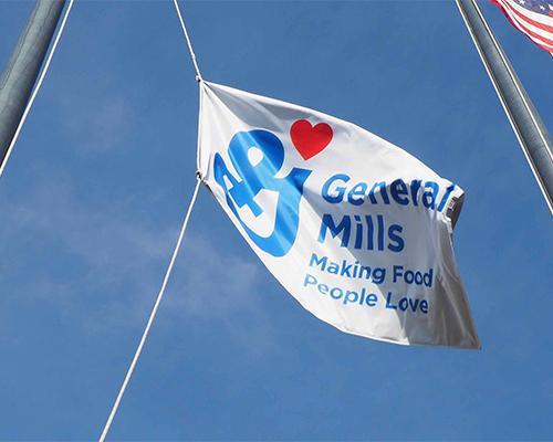 General Mills logo flag