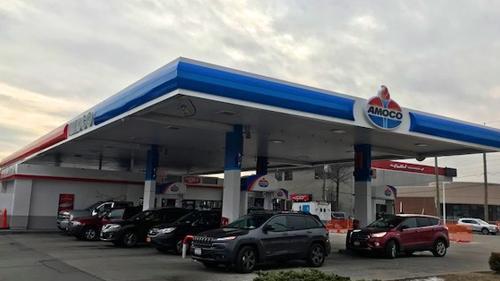 Amoco gas station in Pelham Manor, N.Y.