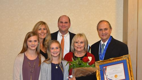 Bill Weigel was honored with the prestigious recognition of the National Eagle Scout Association's Outstanding Eagle Scout award.