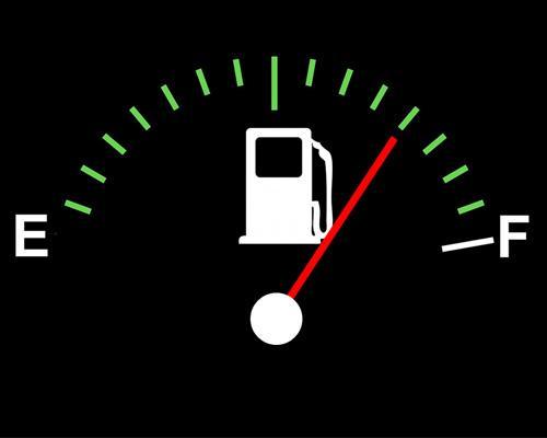 fuel gauge to half full