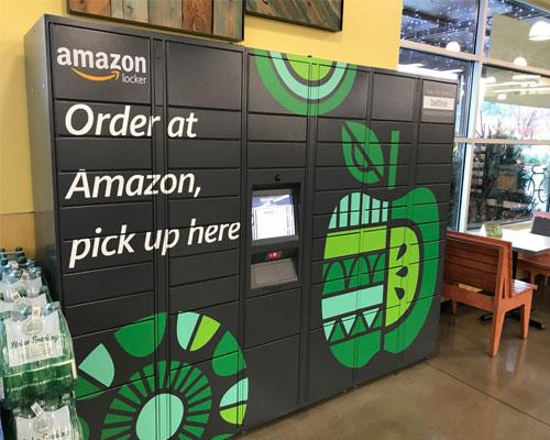 Amazon Lockers at a Whole Foods Market