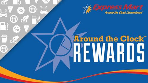 Express Mart Around the Clock Rewards card