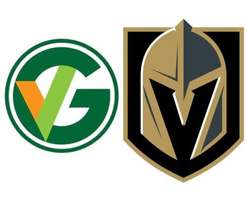 Green Valley Grocery & Vegas Golden Knights logos