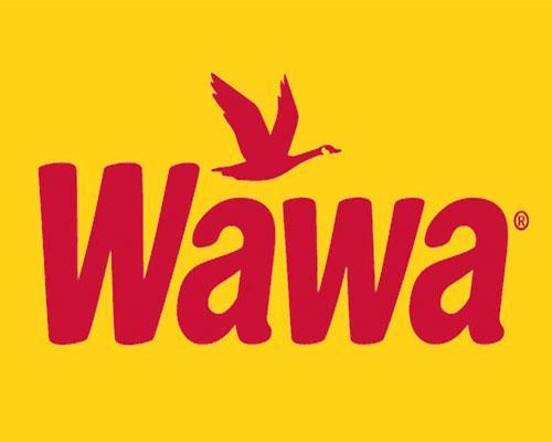 Wawa logo on yellow background