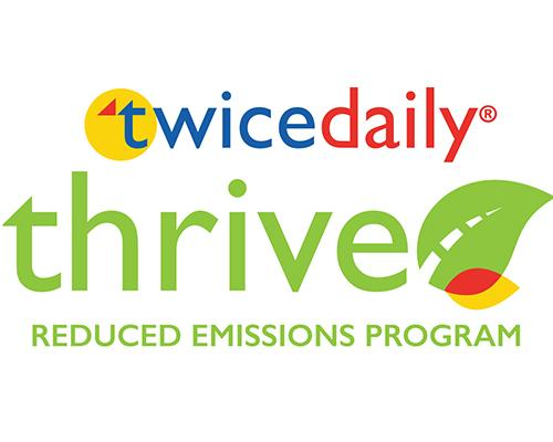 Twice Daily & Thrive logos