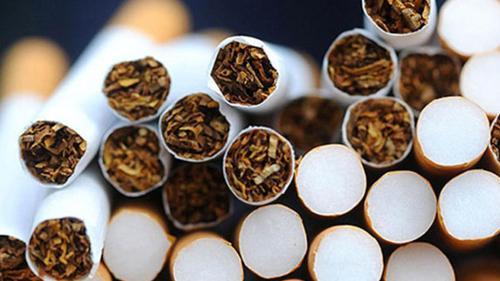 A pile of cigarettes