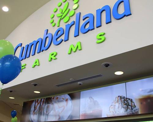 Grand opening of a Cumberland Farms convenience store