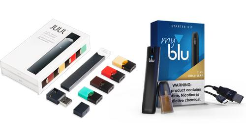 JUUL and myblu products