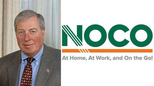 Reg Newman II and NOCO logo