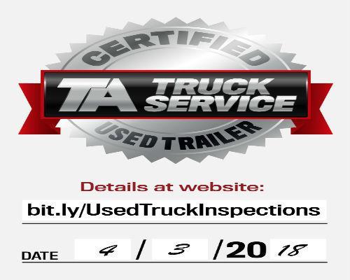 TA Truck Service Used Trailer label