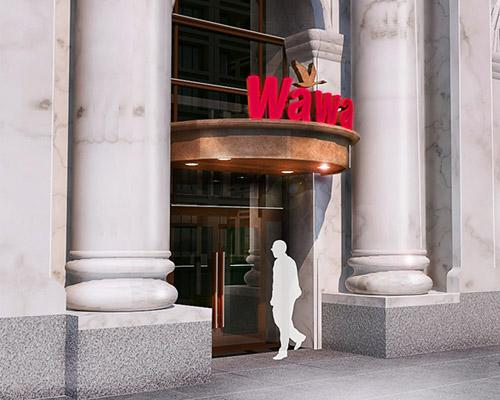 Plans for Wawa's Independence Hall store