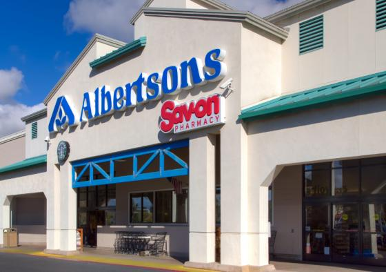 The exterior of an Albertstons stores