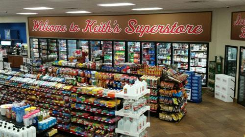 Inside a Keith Superstore's convenience store