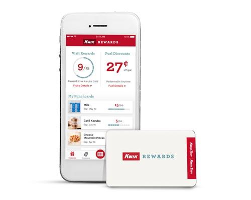 Kwik Trip's Kwik Rewards app