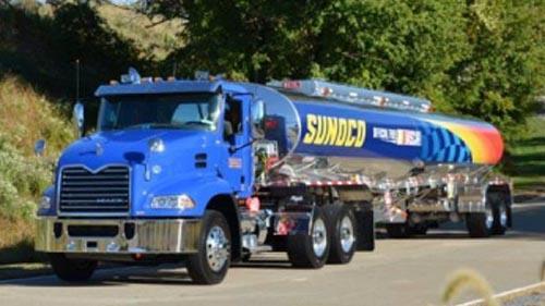 A Sunoco fuel truck