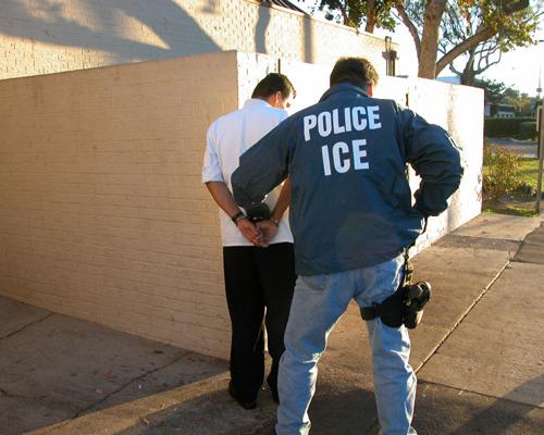 Immigration & Customs Enforcement Agency arrest