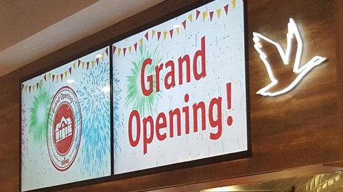 A Wawa grand opening sign