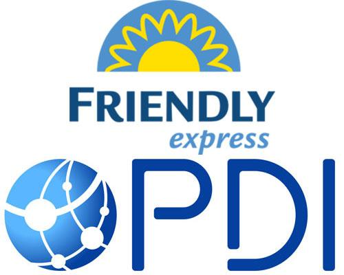 Friendly Express & PDI logos
