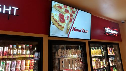 Digital messaging in a Kwik Trip convenience store